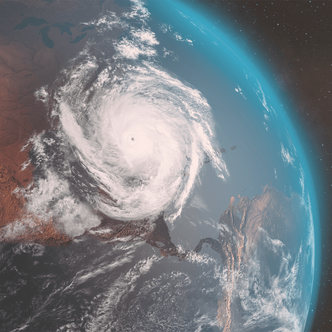 Eye of the hurricane as seen from space